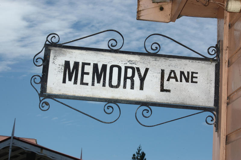 Memory lane sign royalty free stock image