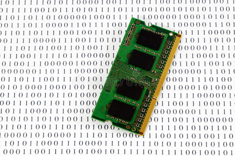 Memory Module On Binary Code Royalty Free Stock Images