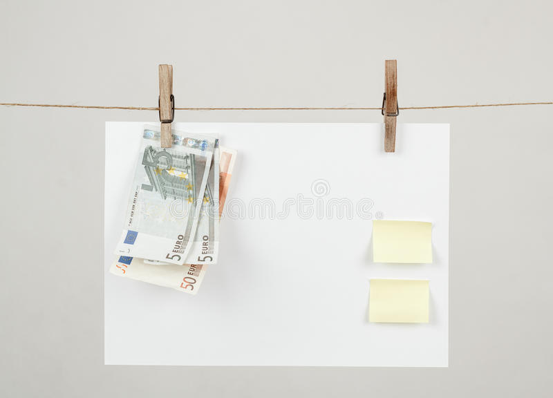 Memory note paper with Euro moneys