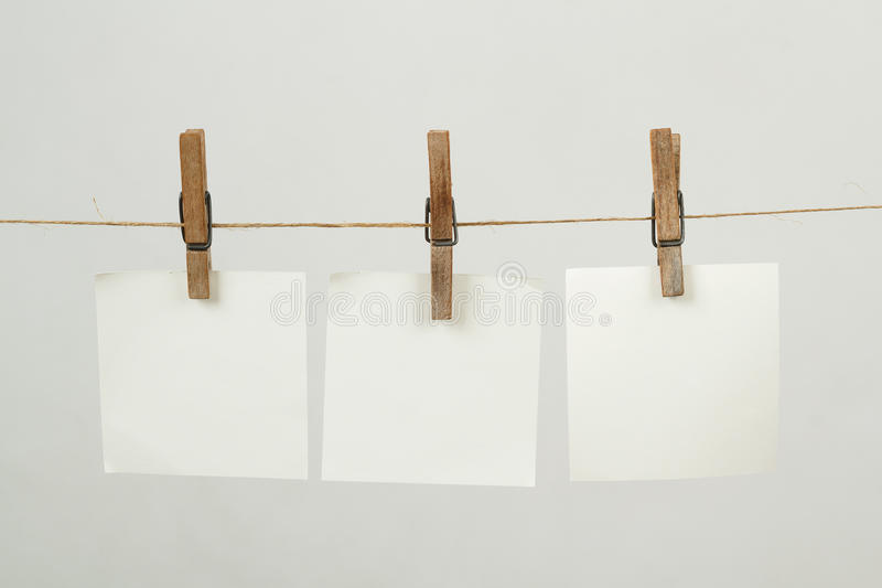 Download Memory Note Paper Hanging On Cord Stock Photo - Image: 28758440