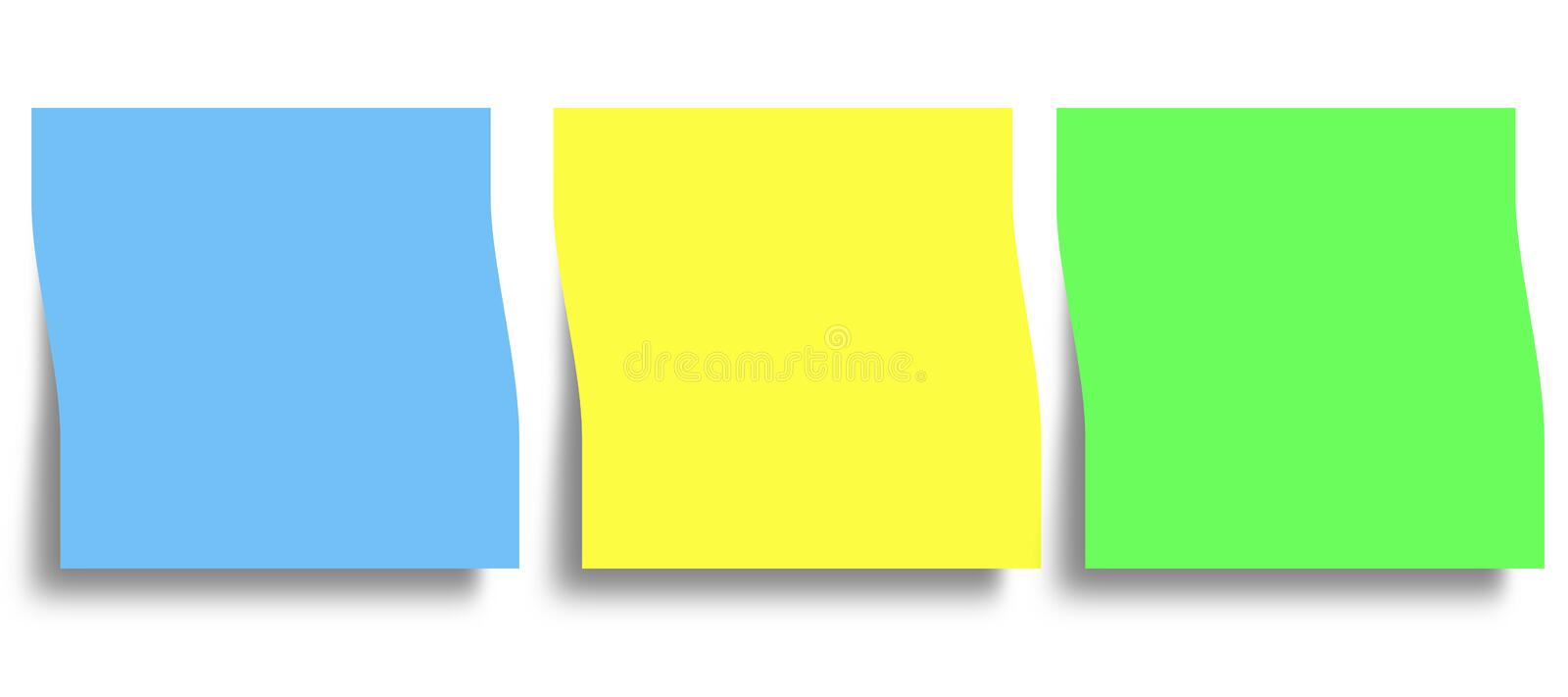 Memory reminder sticky notes. With copy space stock illustration