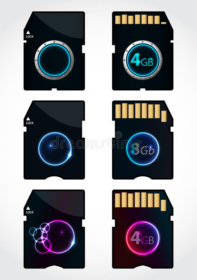 Download Memory SD stock vector. Image of disk, backup, disc, data - 23856049