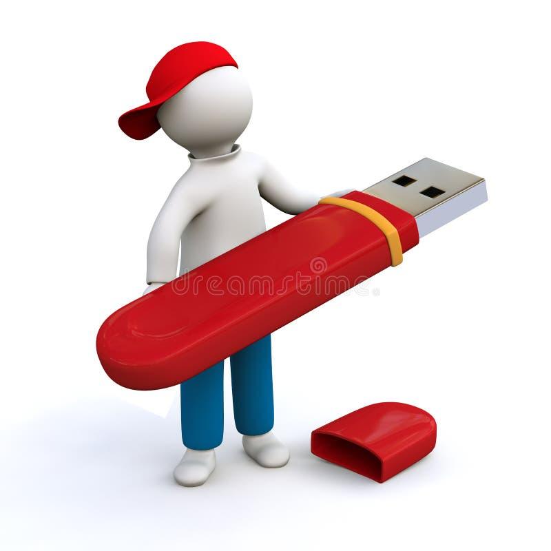 Download Memory Stick stock illustration. Illustration of security - 22373482