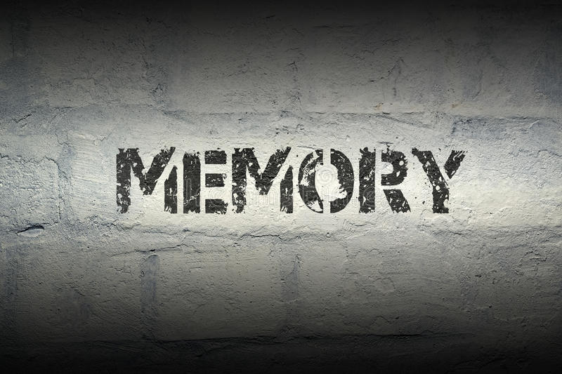 Memory WORD GR royalty free stock photography