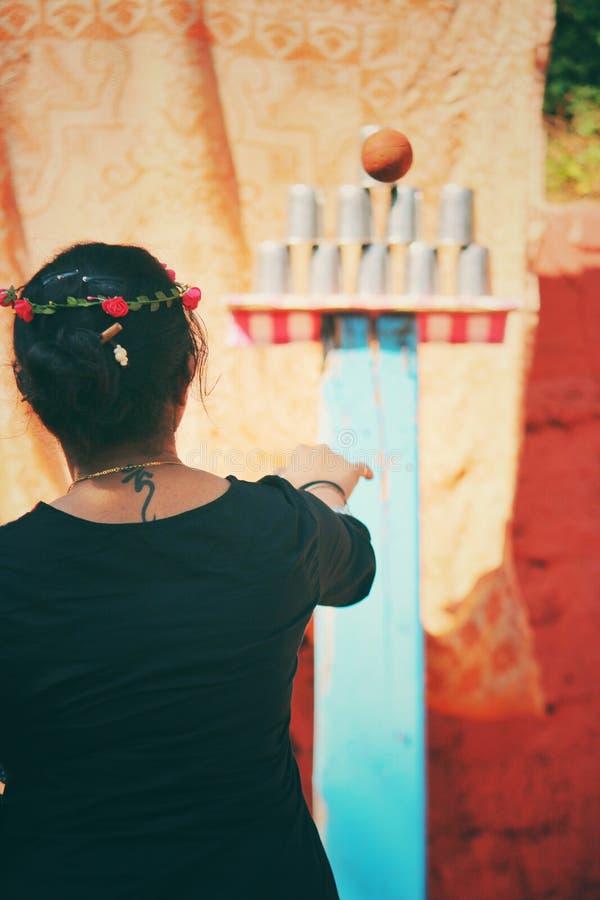 Memorys de capot de chind de jeux de carnaval images libres de droits