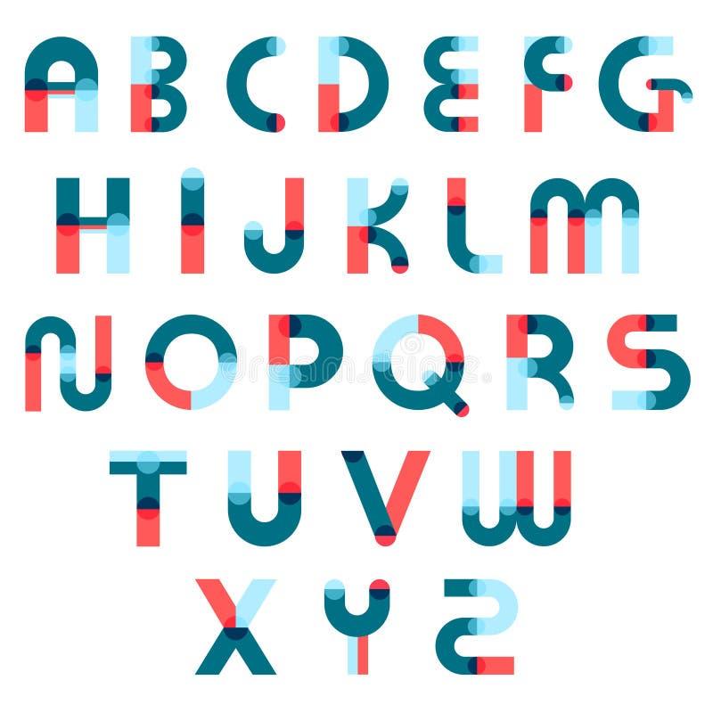 Memphis Alphabet Constructor Set royaltyfri illustrationer