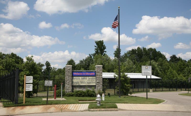 Memphis Animal Services Front Gate imagens de stock