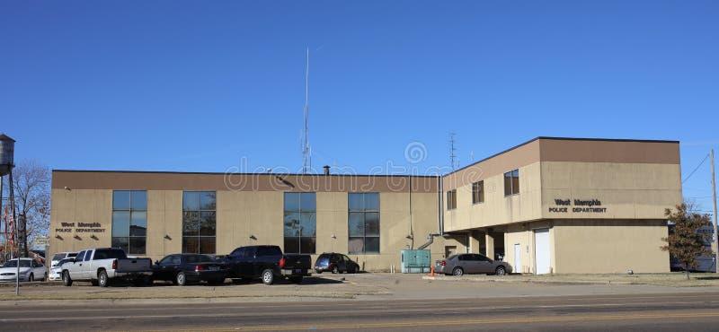 Memphis Arkansas Police Station ad ovest immagini stock
