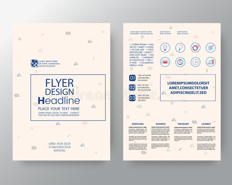 Memphis art background for Corporate Identity, Brochure annual report cover Flyer Poster design Layout template in A4 size vector illustration