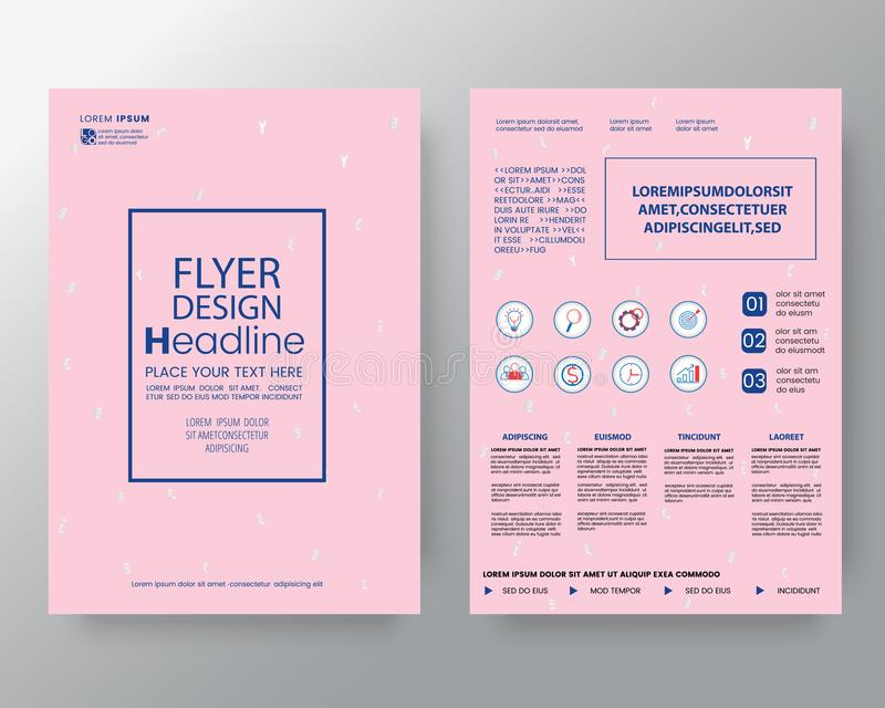 Memphis art background for Corporate Identity, Brochure annual report cover Flyer Poster design Layout vector template in A4 size royalty free illustration
