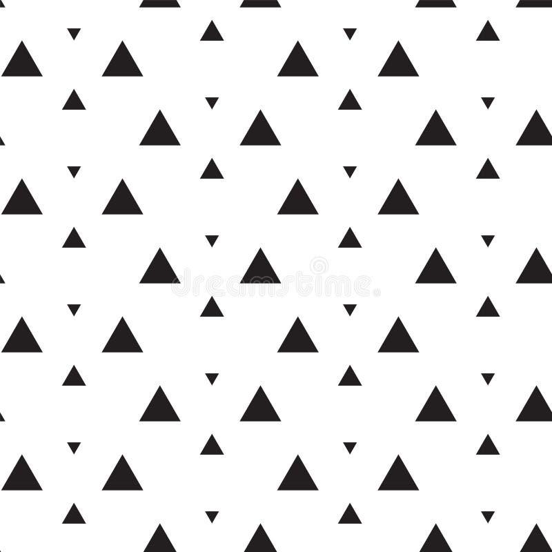 MEMPHIS ART-DOPPELT-DREIECK-BESCHAFFENHEIT Geometrisches nahtloses Vektormuster lizenzfreie abbildung