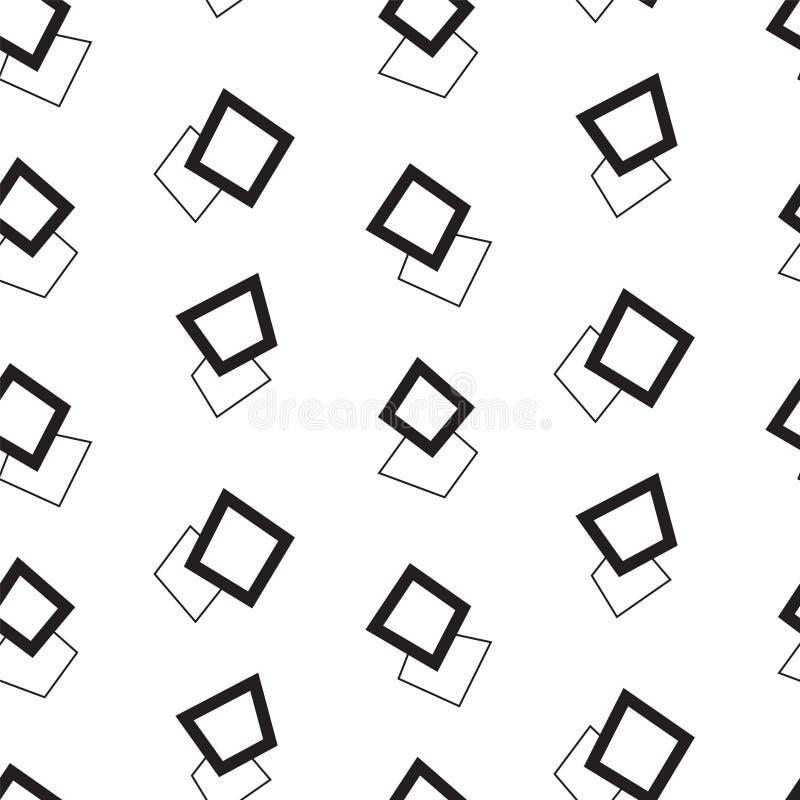 MEMPHIS ART-DOPPELT-QUADRAT-BESCHAFFENHEIT Geometrisches nahtloses Vektormuster lizenzfreie abbildung