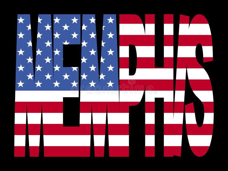 Memphis avec l'indicateur américain illustration stock
