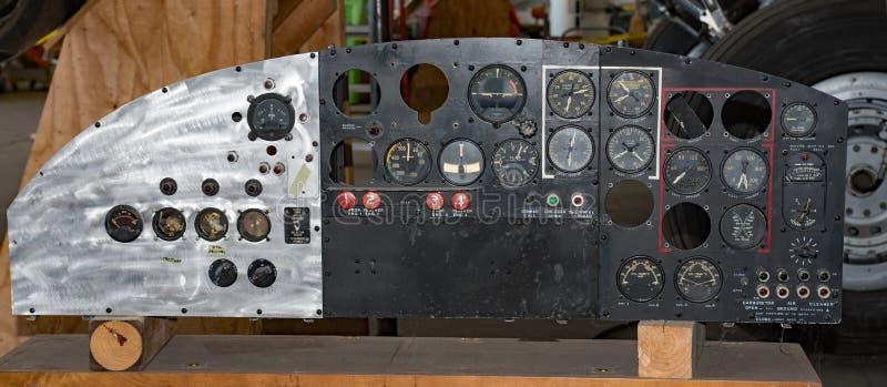 Memphis Belle Instrument Panel royalty-vrije stock foto's