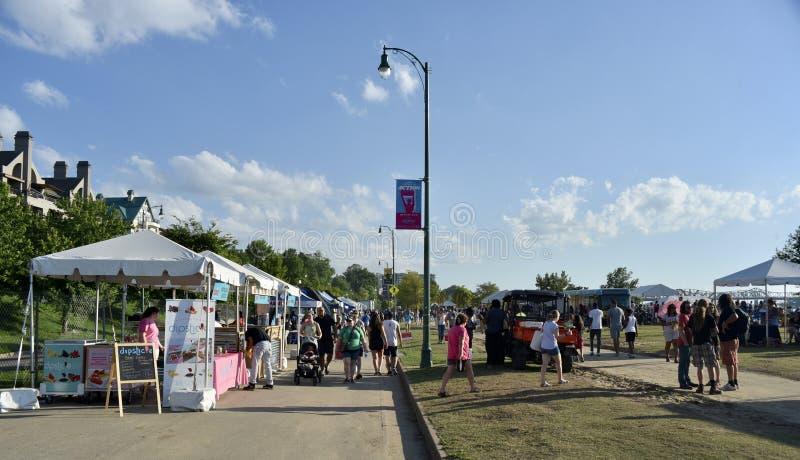 Memphis Bicentennial Celebration Vendor Booths Memphis TN photo libre de droits