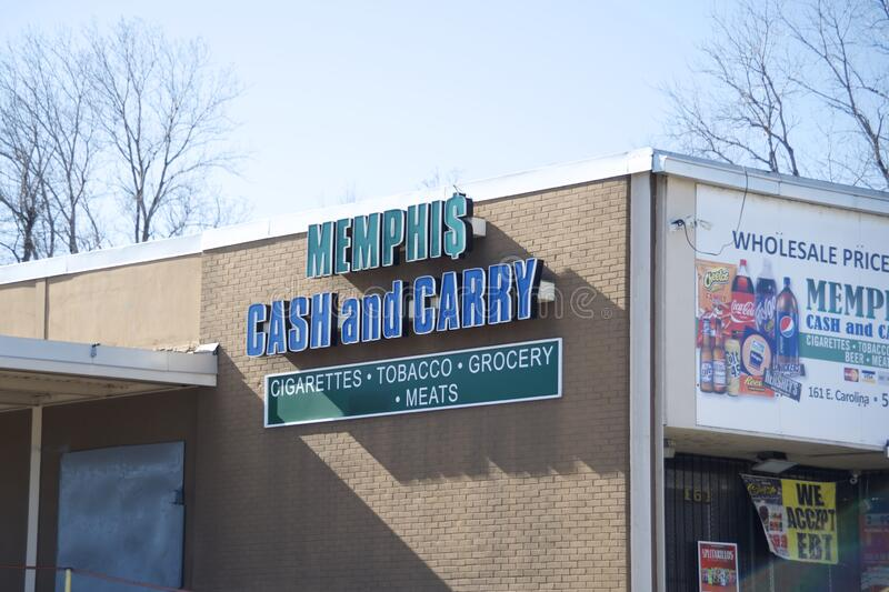 Memphis Cash and Carry Grocery Store, Memphis, TN stockbild