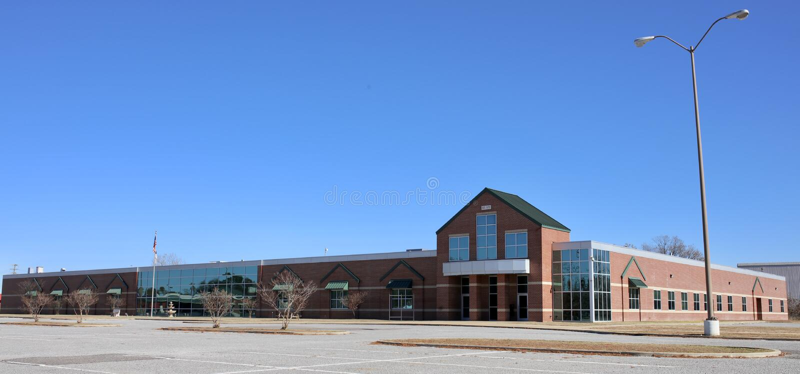 Memphis Christian School Building ad ovest, Memphis ad ovest, Arkansas fotografia stock