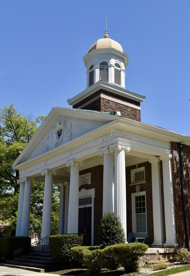Memphis Church. This is a Spring picture of the front of the historic First Congregational Church located in a Memphis, Tennessee in Shelby County. This historic stock photo