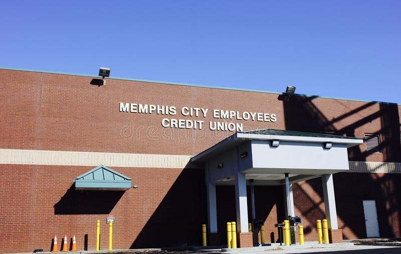Memphis City Employees Credit Union. Has been open since 1969. It`s the 18th largest credit union in Tennessee with assets totaling $276.18 Million stock photos
