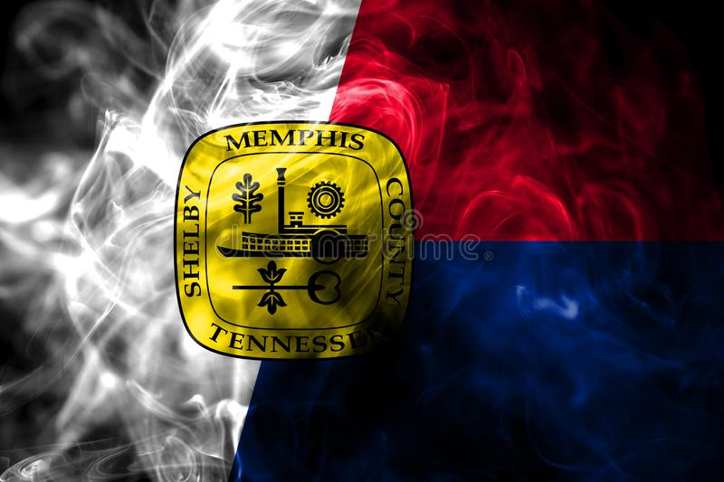 Memphis city smoke flag, Tennessee State, United States Of America.  royalty free stock images