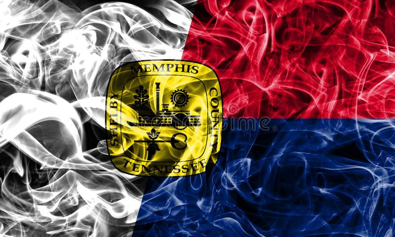 Memphis city smoke flag, Tennessee State, United States Of America stock image