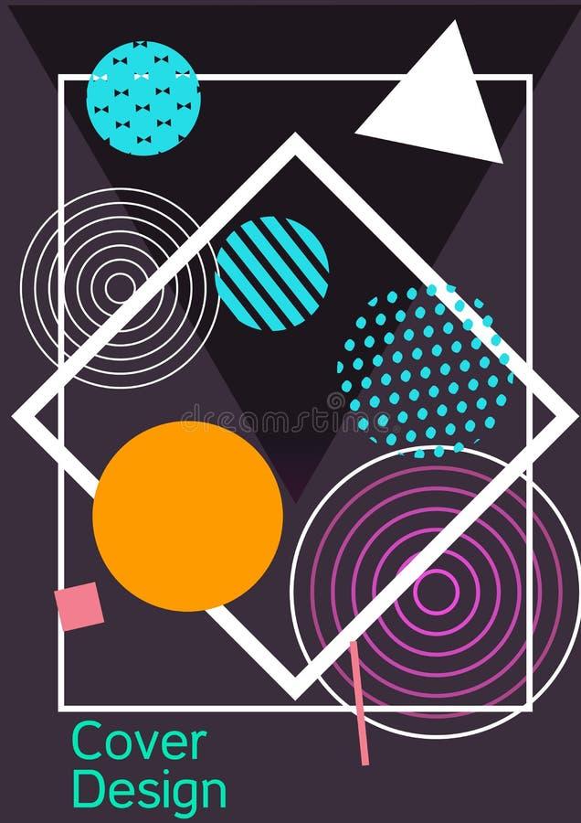 Memphis cover design. Modern design template. Modern Memphis background. Artistic geometric cover design. Fashionable  cover, banner, poster, booklet. Creative vector illustration