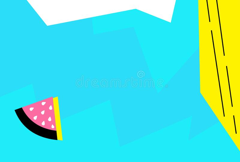 Memphis design background geometric .Abstract pop art line and dots color pattern background.Minimalistic vector liquid splash ove royalty free illustration