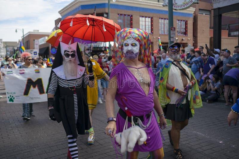 Memphis Gay Pride Parade 2017 imagem de stock royalty free