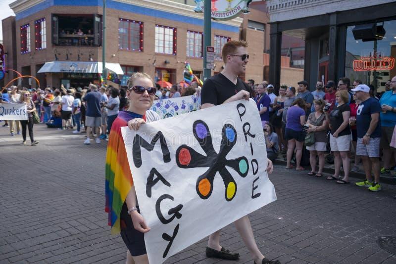 Memphis Gay Pride Parade 2017 fotografia de stock royalty free