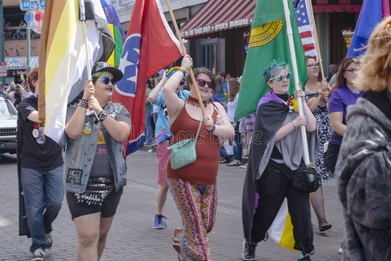 Memphis Gay Pride Parade 2017 imagem de stock