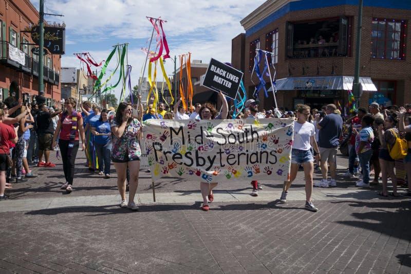 Memphis Gay Pride Parade 2017 foto de stock royalty free