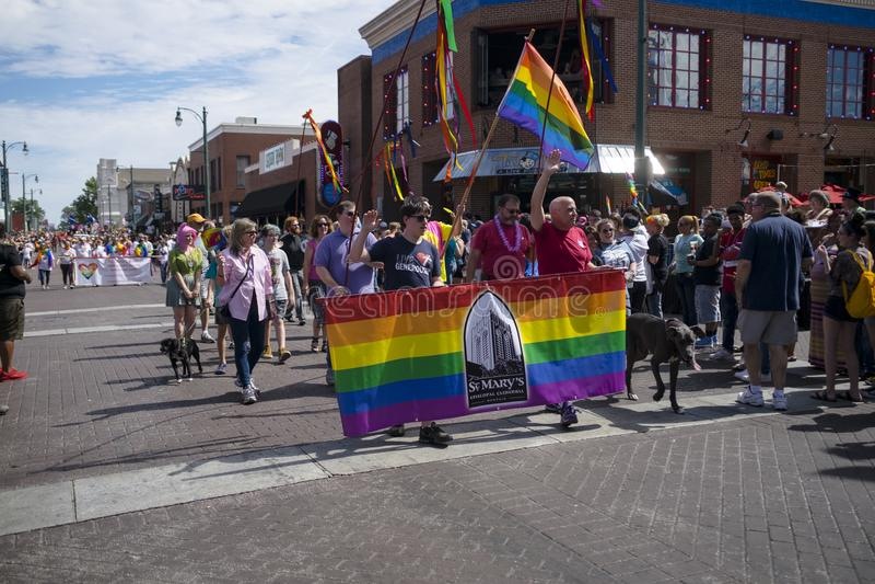 Memphis Gay Pride Parade 2017 fotografia de stock