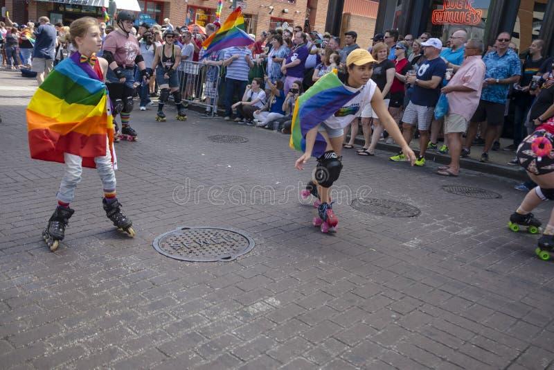 Memphis Gay Pride Parade 2017 fotos de stock royalty free