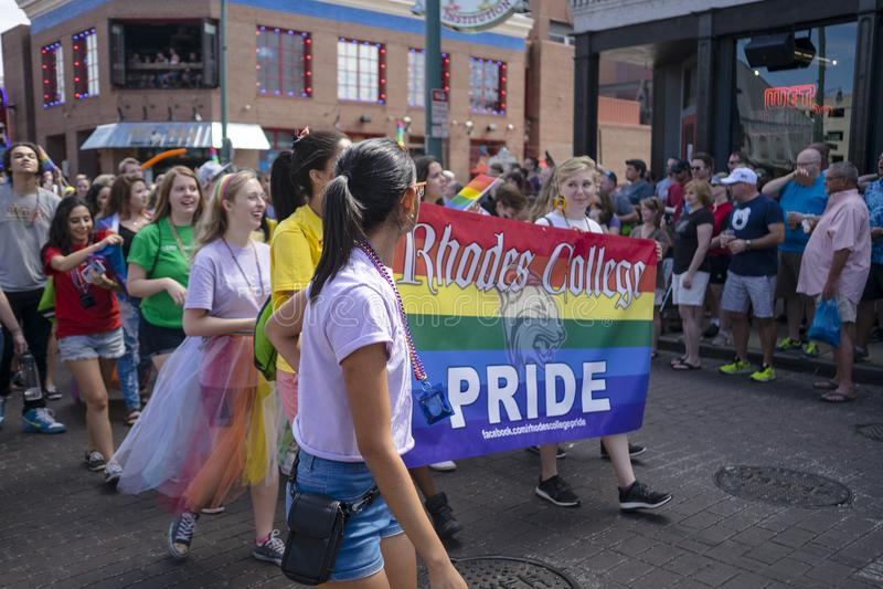Memphis Gay Pride Parade 2017 fotos de stock