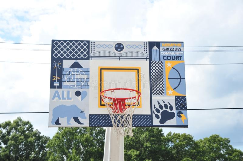 Memphis Grizzlies Community Court, Memphis, Tennessee stock afbeeldingen