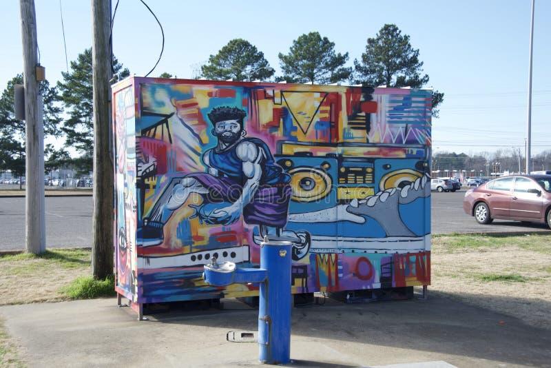 Memphis Grizzlies Community Court Painting stock foto