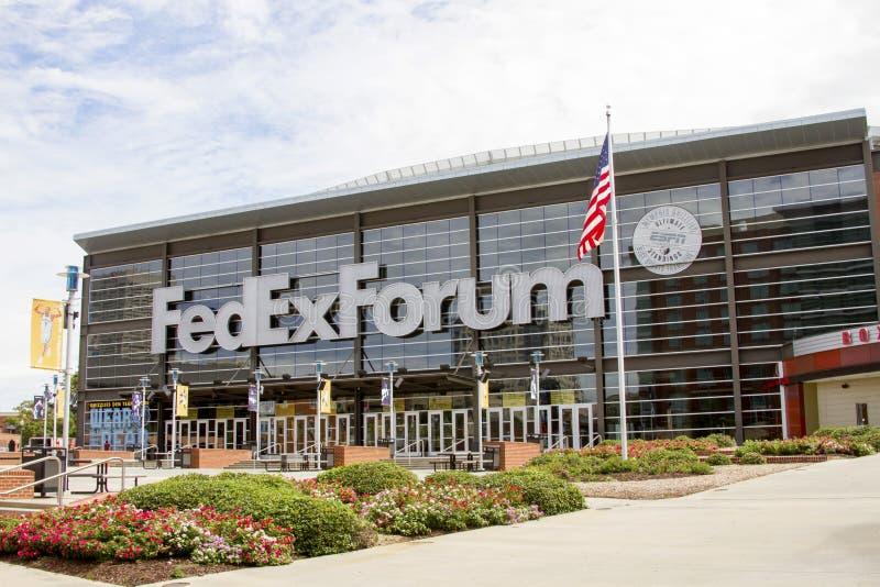 Memphis Grizzlies FedExForum imagem de stock royalty free