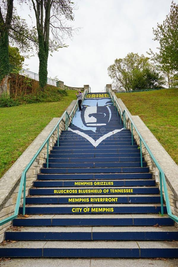 Memphis Grizzlies Riverfront Fitness Trail arkivbilder