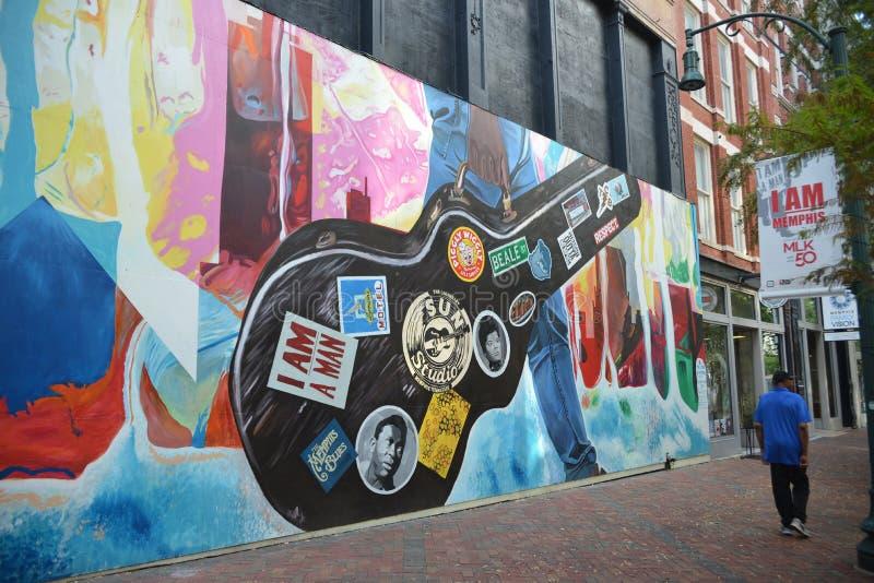 Memphis History Street Art, Memphis, Tennessee lizenzfreie stockfotografie