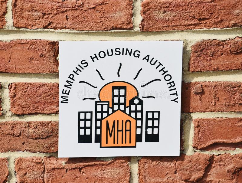 Memphis Housing Authority Crest imagem de stock