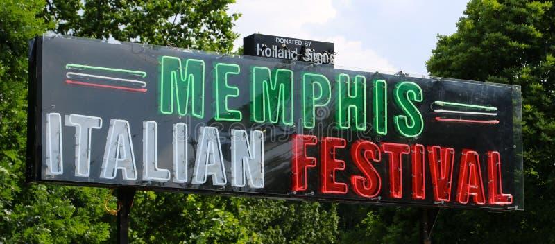 Memphis Italian Festival Sign royalty free stock photography