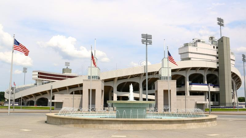 Memphis Liberty Bowl Memorial Stadium Memphis Tennessee royaltyfri fotografi