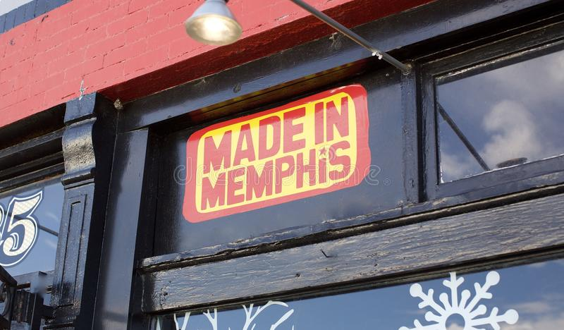 Memphis Made Sign foto de stock
