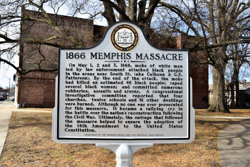 1866 Memphis Massacre Marker royalty free stock photography