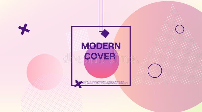 Memphis Minimal Geometric Pattern Elementos geométricos, plantilla de la cubierta mínima del negocio Identificación de Memphis Fu libre illustration