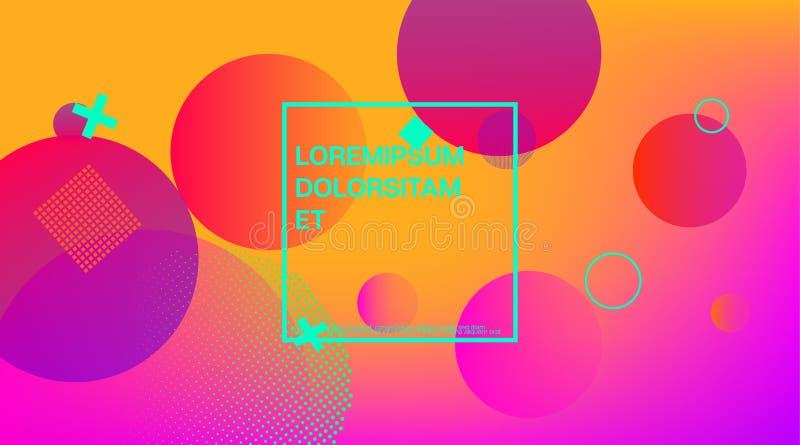 Memphis Minimal Geometric Pattern Presentación mínima de la cubierta de Memphis Futuristic Corporate Identity Vector de la planti libre illustration