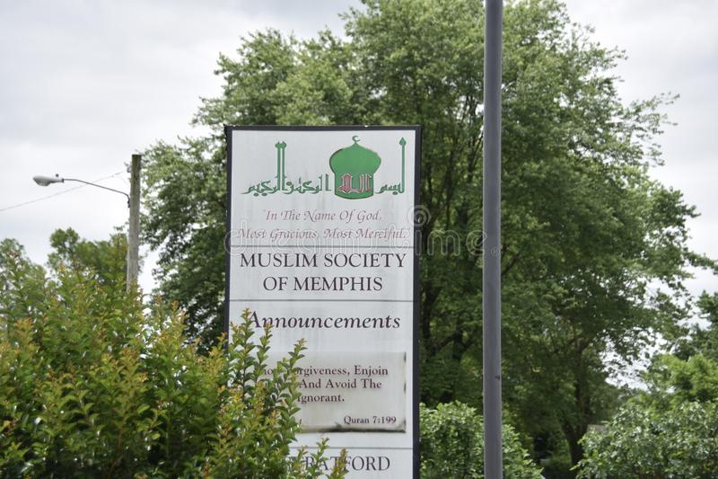 Memphis Muslim Society, Memphis, TN royalty-vrije stock foto