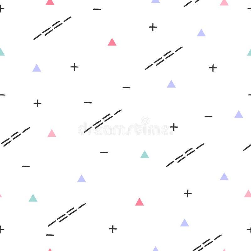 Memphis Pattern Background Progettazione 80-90s di modo fotografia stock libera da diritti