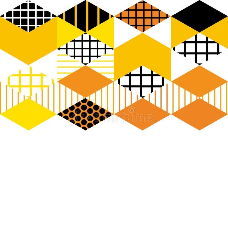 Memphis Postmodern Retro-Modeart 80-90s Elemente der Kartenfahnenschablone geometrische asymetrischer Formen Rauten-Dreieckrüttle vektor abbildung