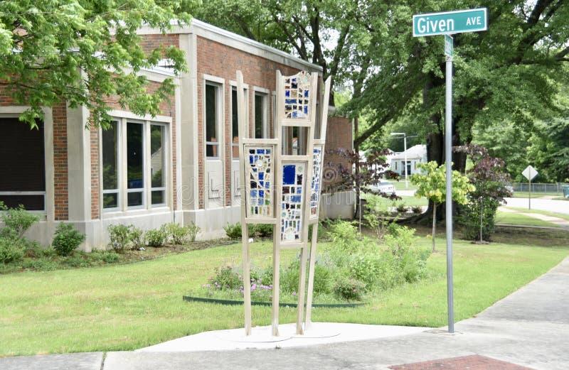 Memphis Public Library Rudolph Branch Art Exhibit, Memphis, TN images stock